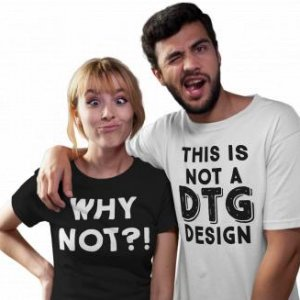 couple making faces while wearing round neck tees mockup a16270 (1)